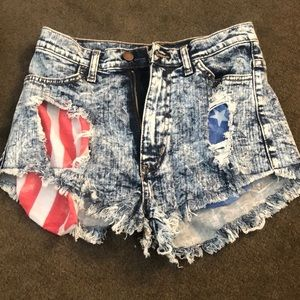 4th of July denim jean shorts